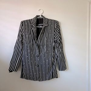 Vintage Criscione New York Striped Blazer